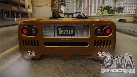GTA 5 Progen GP1 Roadster IVF для GTA San Andreas вид снизу