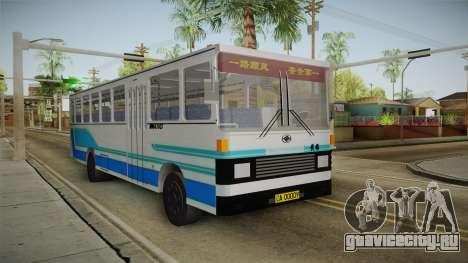 Huanghai DD6111CT Suburban Bus Blue для GTA San Andreas