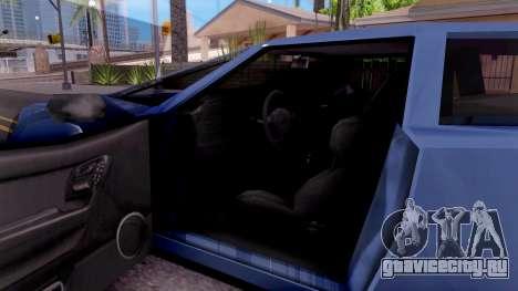 Infernus From Vice City для GTA San Andreas вид изнутри