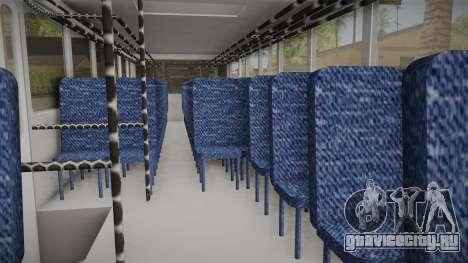 Huanghai DD6111CT Suburban Bus Blue для GTA San Andreas вид сзади
