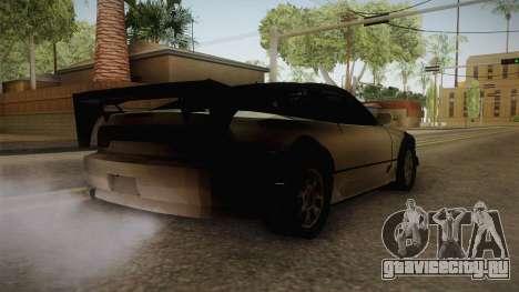 Nissan 240SX Lowpoly для GTA San Andreas вид сзади слева