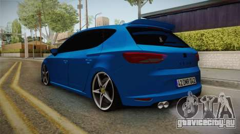 Seat Leon FR Blue для GTA San Andreas вид сзади слева