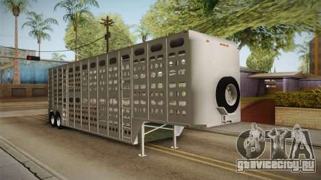 Double Trailer Livestock v3 для GTA San Andreas вид справа