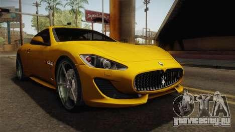 Maserati GranTurismo Sport v2 для GTA San Andreas вид справа