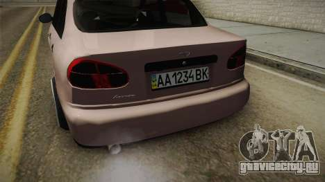 Daewoo Lanos Sedan 2001 для GTA San Andreas вид изнутри