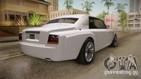 GTA 5 Enus Diamond Coupè для GTA San Andreas вид справа
