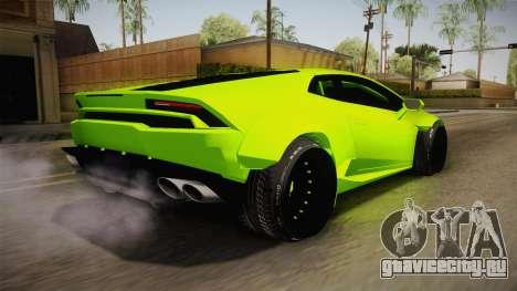 Lamborghini Huracan Rocket Bunny 2014 для GTA San Andreas вид слева