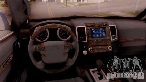 Lexus GX460 для GTA San Andreas вид изнутри