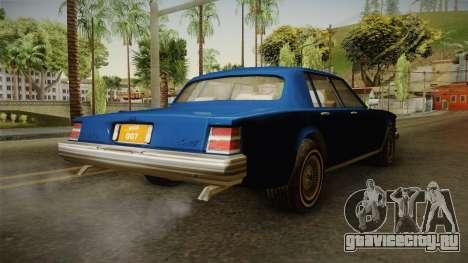 Driver: PL - Regina для GTA San Andreas вид сзади слева