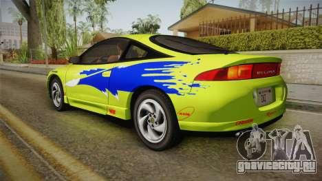 Mitsubishi Eclipse GSX 1995 IVF для GTA San Andreas вид сверху