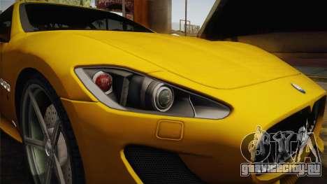Maserati GranTurismo Sport v2 для GTA San Andreas вид сзади