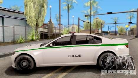 GTA V Cheval Fugitive Police Czech Old Style для GTA San Andreas вид слева