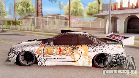 Nissan Skyline GT-R One Piece для GTA San Andreas вид слева