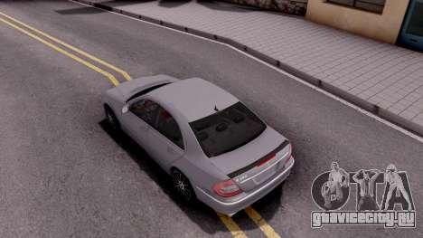 Mercedes-Benz E280 W221 для GTA San Andreas вид сзади