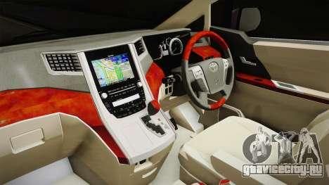 Toyota Alphard 3.5G Bodykit 2015 для GTA San Andreas вид изнутри