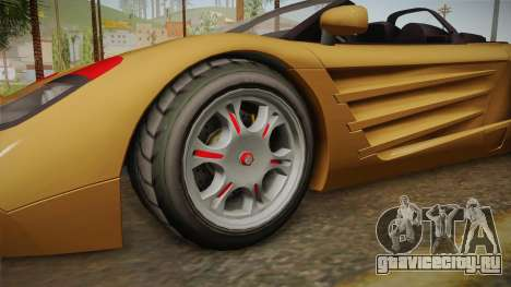 GTA 5 Progen GP1 Roadster IVF для GTA San Andreas вид сзади