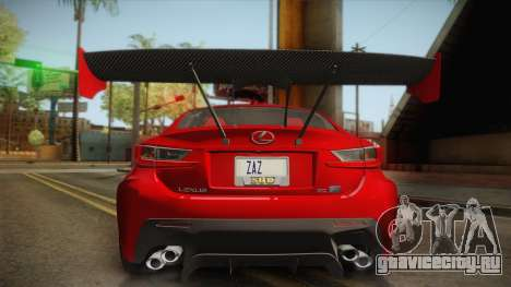 Lexus RC F RocketBunny для GTA San Andreas вид справа