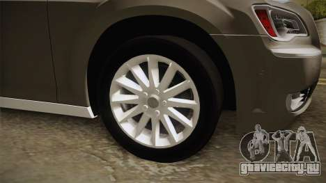 Chrysler 300C Hajwalah 2015 для GTA San Andreas вид сзади