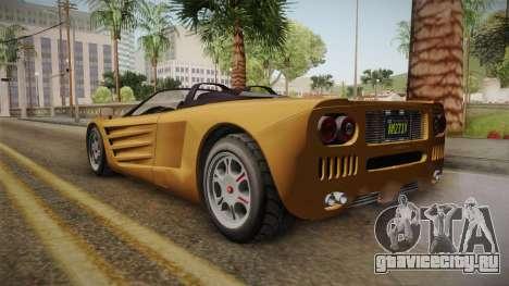 GTA 5 Progen GP1 Roadster IVF для GTA San Andreas вид сзади слева