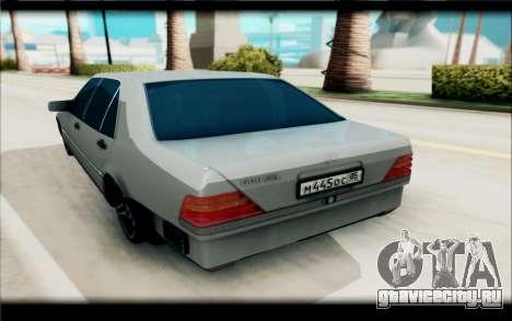 Mercedes-Benz 600SEL для GTA San Andreas вид сзади