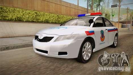 Toyota Camry Turkish Gendarmerie Traffic Unit для GTA San Andreas