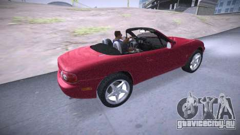 Mazda MX-5 Miata для GTA San Andreas вид сзади