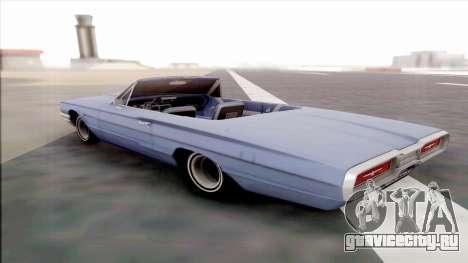 Ford Thunderbird для GTA San Andreas вид сзади слева
