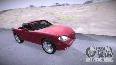 Mazda MX-5 Miata для GTA San Andreas вид справа