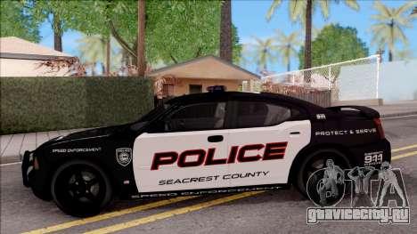 Dodge Charger High Speed Police для GTA San Andreas вид слева