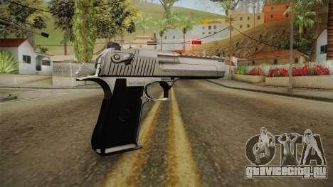 Desert Eagle Silver Chrome для GTA San Andreas третий скриншот