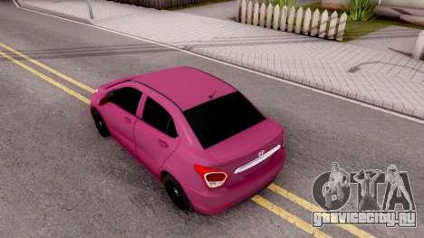 Hyundai i10 для GTA San Andreas вид сзади