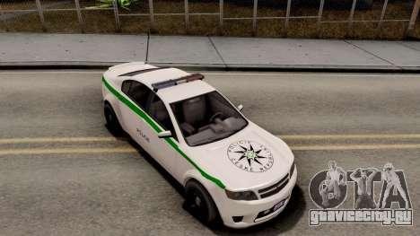 GTA V Cheval Fugitive Police Czech Old Style для GTA San Andreas вид справа