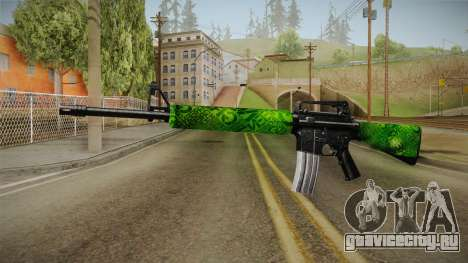 Green M4 для GTA San Andreas