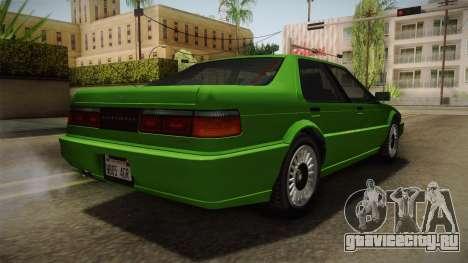 GTA 4 Dinka Hakumai для GTA San Andreas вид справа