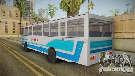 Huanghai DD6111CT Suburban Bus Blue для GTA San Andreas вид сзади слева