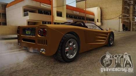 GTA 5 Progen GP1 Roadster IVF для GTA San Andreas вид слева