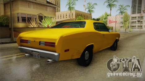 Plymouth Duster 1972 для GTA San Andreas вид сзади слева