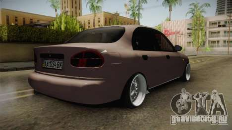 Daewoo Lanos Sedan 2001 для GTA San Andreas вид сзади слева