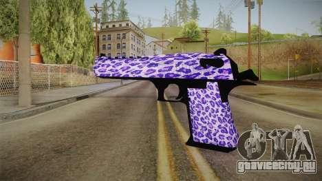 Tiger Violet Desert Eagle для GTA San Andreas второй скриншот