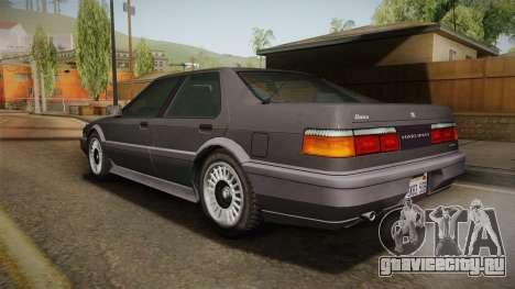 GTA 4 Dinka Hakumai Tuned Bumpers для GTA San Andreas вид слева