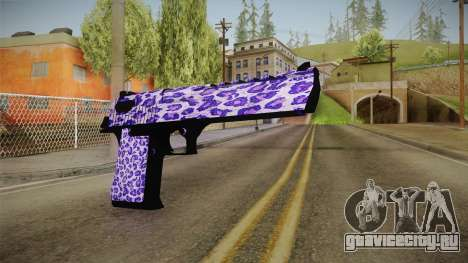 Tiger Violet Desert Eagle для GTA San Andreas