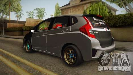 Honda Jazz GK FIT RS v1 для GTA San Andreas вид сзади слева