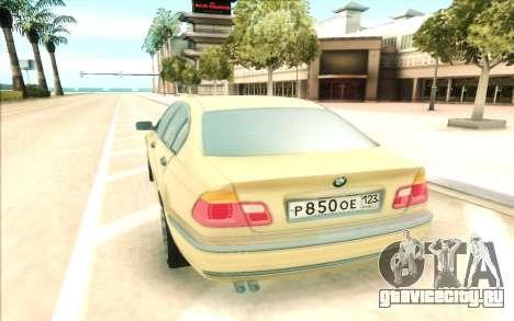 BMW 320 для GTA San Andreas вид сзади