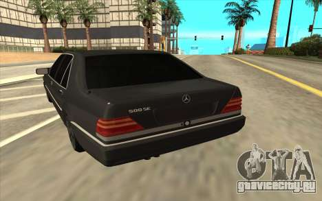 Mercedes-Benz W140 для GTA San Andreas вид справа