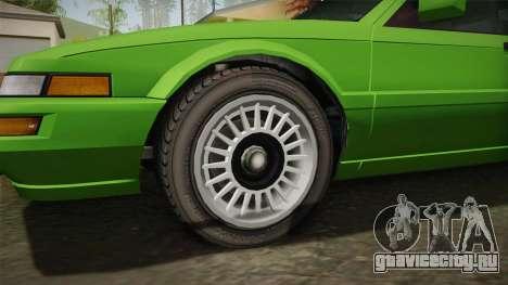 GTA 4 Dinka Hakumai для GTA San Andreas вид сзади