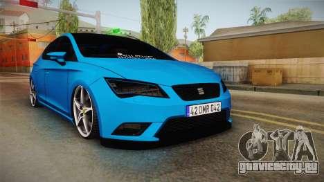 Seat Leon FR Blue для GTA San Andreas