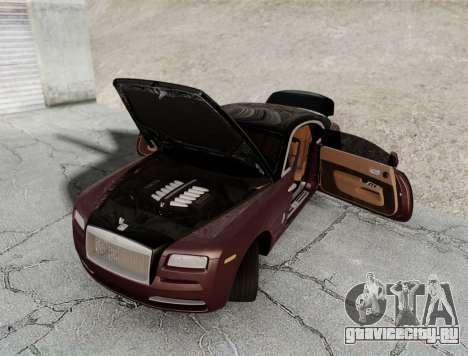 Rolls-Royce Wraith 2014 для GTA San Andreas вид сзади слева