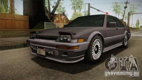 GTA 4 Dinka Hakumai Tuned Bumpers для GTA San Andreas