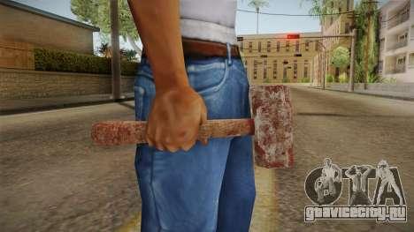 Leatherface Butcher Weapon 1 для GTA San Andreas третий скриншот