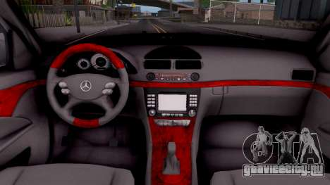 Mercedes-Benz E280 W221 для GTA San Andreas вид изнутри